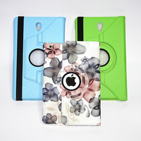 PU Flip Leather Protective sleeve 360 degree rotation Holder Smart Tablet Cover Case for iPad Mini 1 2 3