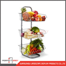3 shelves banana display rack / floor standing fruit and vegetable shelf