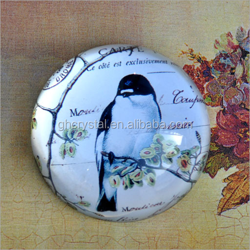 Fashion Round Shape Nice Crystal Paper Weight