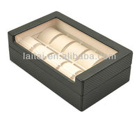 high quality 10 watches 10W-QZ-KC-C-3 with arylic on top wooden watch box
