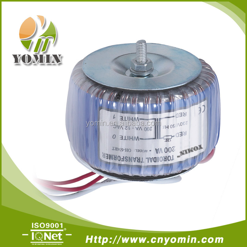 Manufacturer DH-300 300VA Power Toroidal Transformer , Voltage Changer /