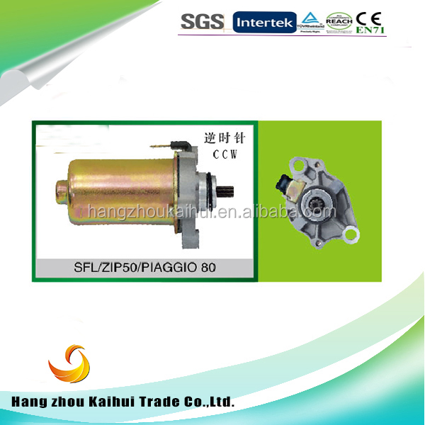 whole sale engine parts sfl zip50 motorcycle starter motor motorcycle starting dynamo for hot sale