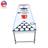 Custom Logo/Cup Holes/LED Glow Lights/Dry Erase Surface/Graphics 8ft Folding Portable Camping Outdoor Beer Pong Table
