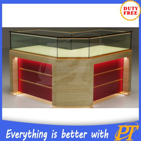 Hot product in 2015 kiosk jewelry showcase/ jewellery kiosk for mall