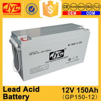 Excellent quality rechargeable sealed lead acid battery 12v 150ah for ups solar inverter
