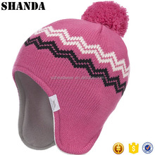 Jacquard Pattern Girls Ear Warmer Hat Children Winter Hat Toddler Winter Hat