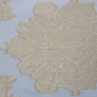 Hotel 100% polyester fabric water dissolving embroidery fabric
