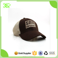 Hot Selling Five Panel Sports Trucker Baseball Cap Mesh Cap With Adjustable Velcro Back Closure