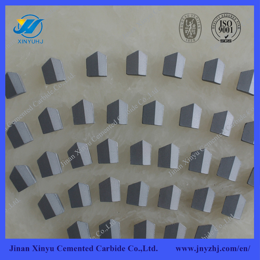 Cemented carbide cutting inserts for coal mining