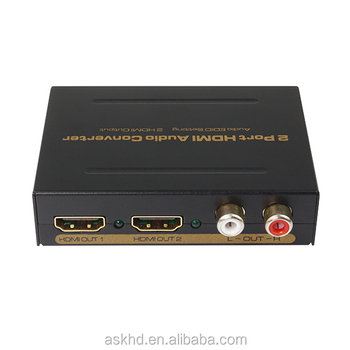 2 port HDMI splitter with audio extractor