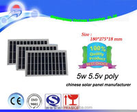 Cheap price per watt!! 5w poly solar panels, large quantity sold to India