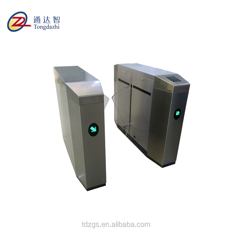 TDZ new entrance security solutions access control flap turnstile barrier gate with swing turnstile gates /fastlane turnstile