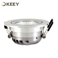 KEEY Ultra-thin Led Recessed Ceiling Panel 6W Ceiling Fan With COB LED Light QYE1-TH314W