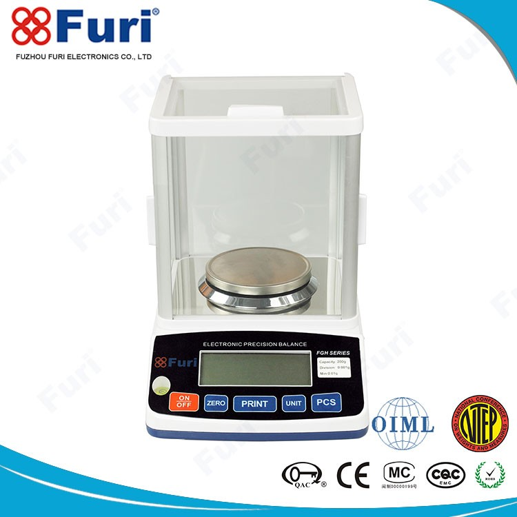 Low battery indication 24 Bit AD Conversion 3000g/0.01g laboratory balance scale