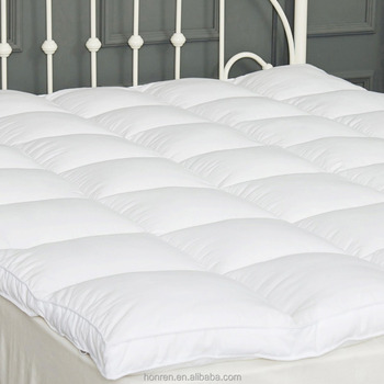 HOTEL Premium Quality Luxury Hypoallergenic Down and Feather Mattress Pad Mattress Topper Baffled Bed Overfilled