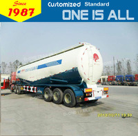 China factory supply truck trailer 45cbm 60tons cement silo truck trailer