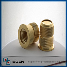 Brass blind threaded inserts for plastic