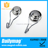 Mounting Magnet D36mm Magnetic Pots with 360 degree Hook 25kg pulling Strong Lifting Magnet Neodymium Permanent Magnets