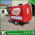 Convenient fast food mobile trailer kitchen/ movable fry cart / mobile food trailer mobile food cart coffee machine