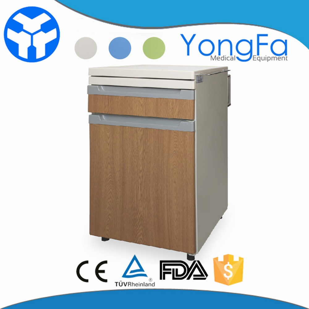YFZ037 Metal frame hospital bedside locker With Three Drawers