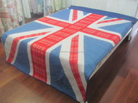Printed UK Flag Patter fitted bedspread