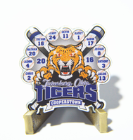 Customized glitter baseball pins with free sample free design