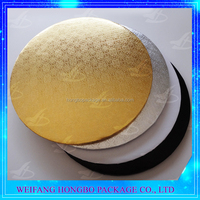 round gold paper cake drum wholesale