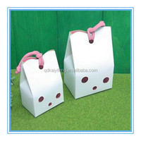 lovely design paper food wedding sweet candy gift bags with handle