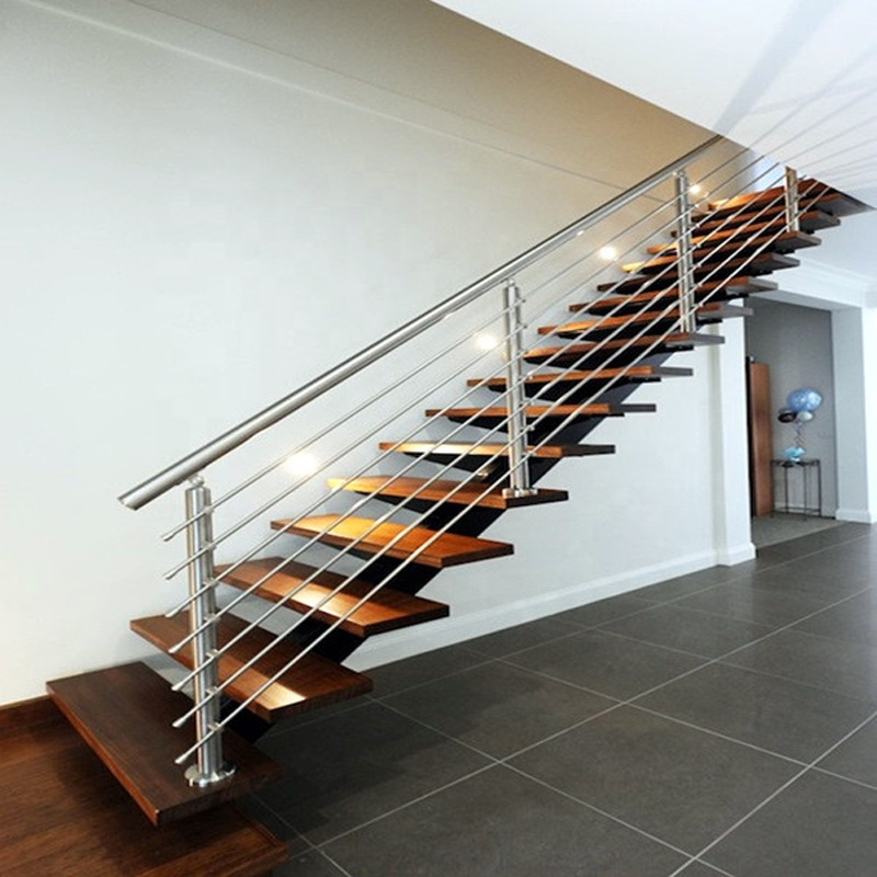 Stainless Steel Tube Handrail For Interior Stairs Indoor Wooden Steps  Staircase   Buy Indoor Wooden Staircase,Handrail For Interior Stairs,Cable  ...