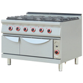 Commercial Gas Cooking Tops 6 Burners Gas Range with Oven BN-G811