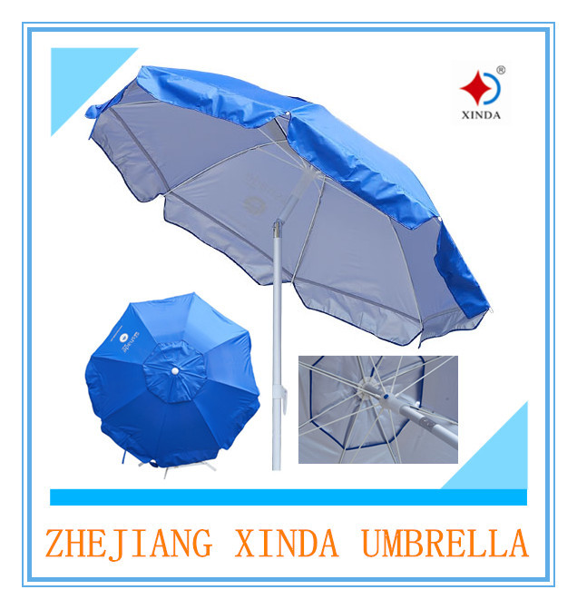 200cm nylon with silver uv protection high quality beach umbrella