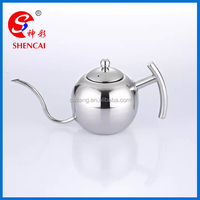 Kitchen appliance Stainless steel tea pot / coffee drip kettle/ tea kettle