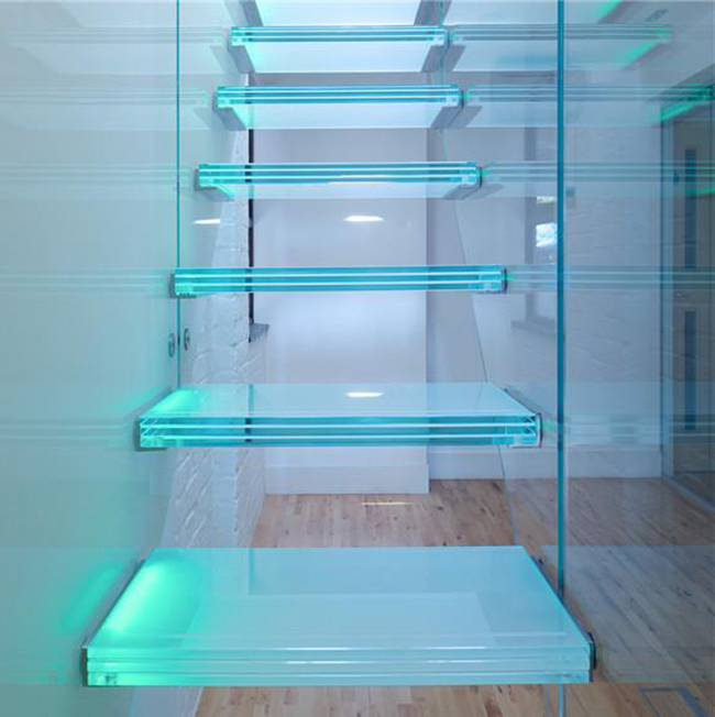 Prefabricated glass / wood / granite / marble / metal stair treads