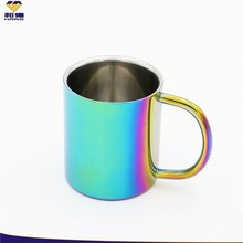 New Products Looking For Distributor / Promotion Blue Tea Cup With PVD
