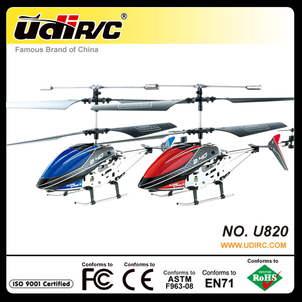 UDIRC 2.4ghz small 3.5CH rc plastic model helicopters U820