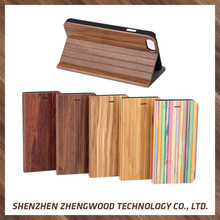 Light weight wood flip leather cell phone case wooden sublimation phone case for iPhone