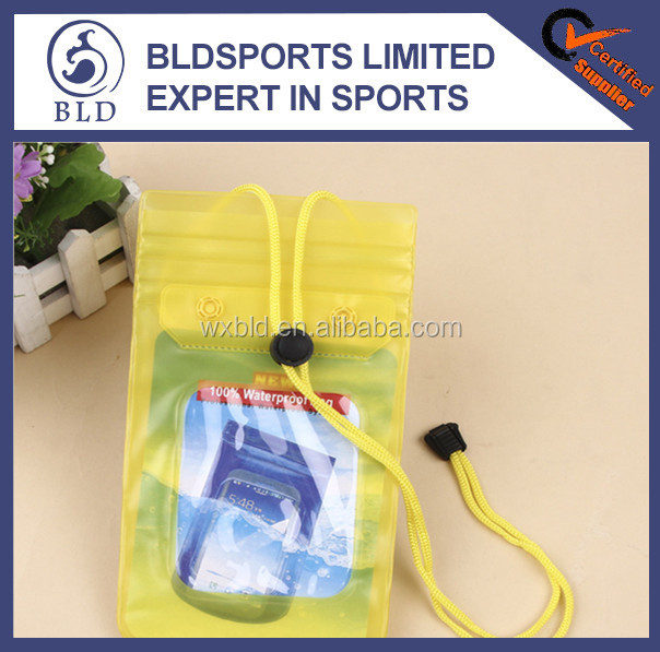 2016 Most Welcomed Promotional waterproof PVC cell phone bag