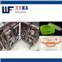 custom design 2018 new style lunch box injection mould/plastic lunch box for food