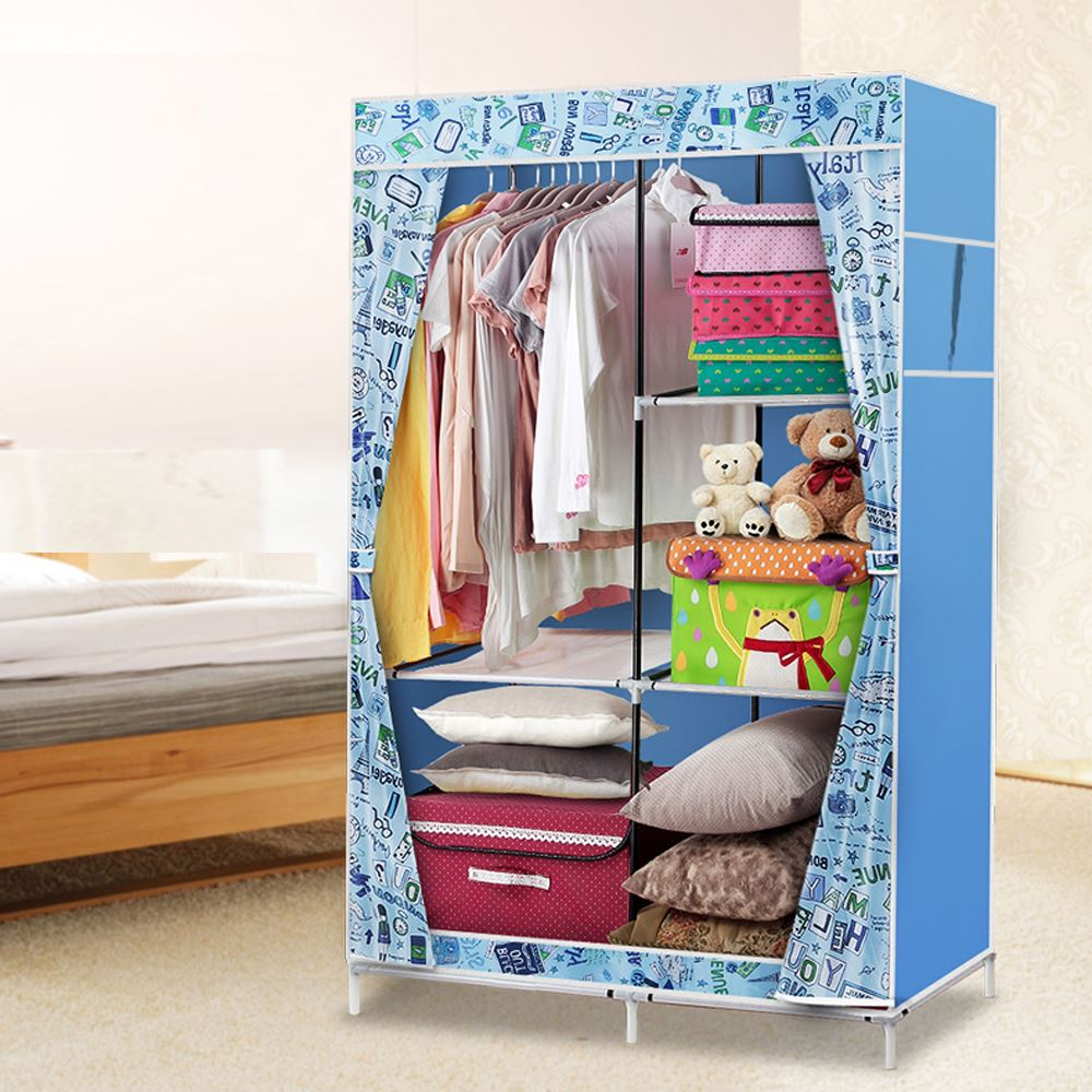 Space Free plastic wardrobe design easy clean clothes storage by tnt pp nonwoven fabric