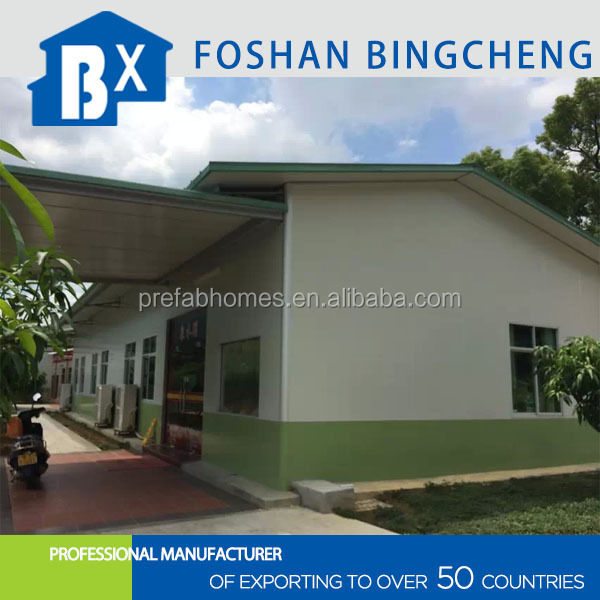 modern light steel structure prefab army canteen house