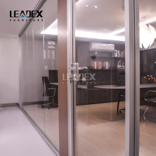 transparent tempered glass full high office wall partition