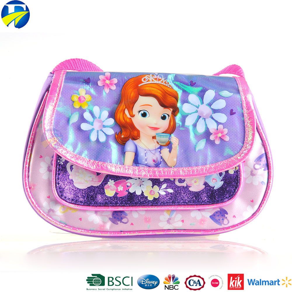 FJ brand style sofia princess colorful summer handbag girls cheap price factory direct wholesale kids cartoon mini hand bag