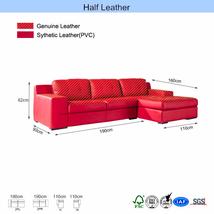 red high grade restaurant furniture sectional sofa