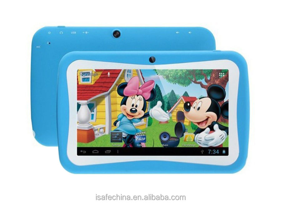 7inch Kids Tablet PC Andriod 5.1 8G Quad Core Educational Tablet for Children with G-Sensor