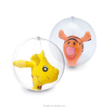 Inflatable Beach Ball with 3D animal INSIDE IT