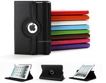 360 Degree Rotary Leather Case with Stand Colorful Flip Leather Case for iPad Mini /2