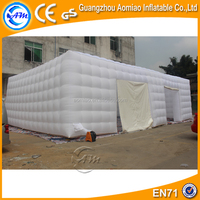 Large inflatable structure, inflatable event cube tent, big party white tent for sale