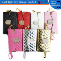 Luxury Handbag Leather Wallet Case For iPhone 4g 5g