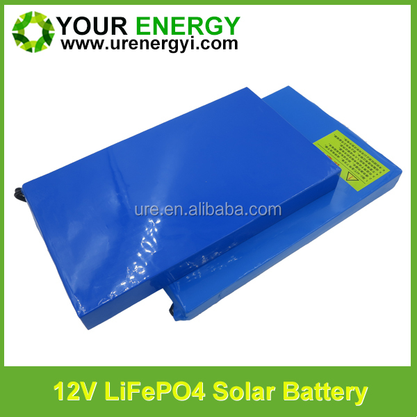 Top quality solar battery 12v with BMS protection lithium battery 39ah lifepo4