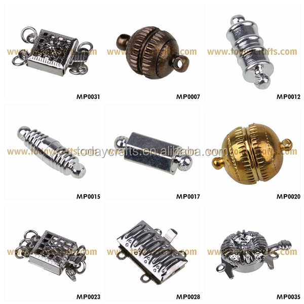 Factory sale lots designs of magnetic screw clasps